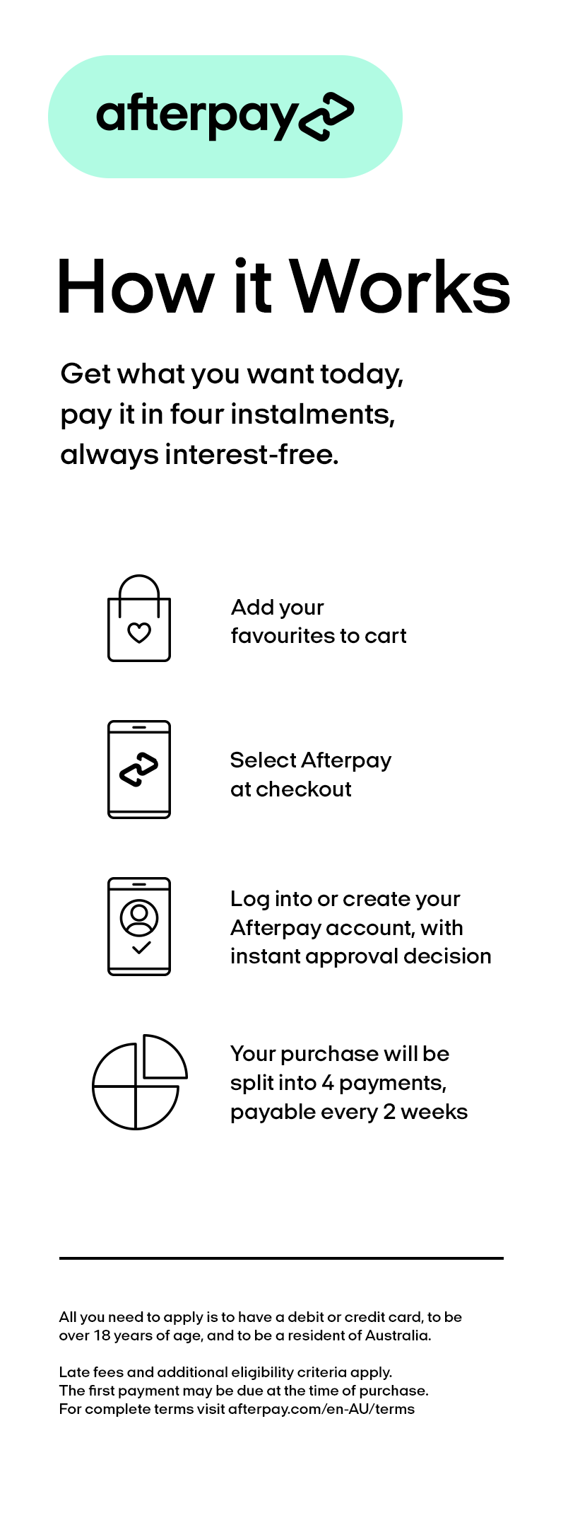 Afterpay Marketing Banner For Mobile